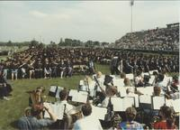 June 6, 1986, Commencement ceremony at Blakeslee Stadium, Mankato State University