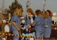 Nursing Students at the Homecoming Parade near Mankato State University, 1989-10-20.