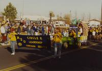 Circle K Club at the Homecoming Parade near Mankato State University, 1989-10-20.