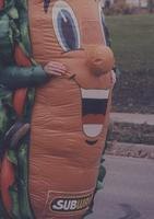 Subway Mascot at Mankato State University, 1994.