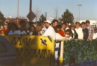 Maverick Showdown Homecoming Parade at Mankato State University, 1994.
