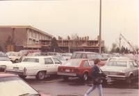 Ongoing construction of Memorial Library at Mankato State University May 5, 1991.