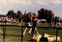 MSU Mavericks football practice, 1985, Mankato State University.