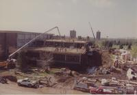 Addition being built on to Memorial Library at Mankato State University on 05-09-1991.