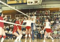 Monarch VS Russian volleyball at Mankato State University in the Otto Arena, May 6, 1990.