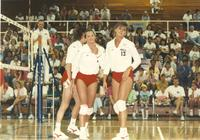 Monarch VS Russian volleyball game at Mankato State University in the Otto Arena, May 6, 1990.