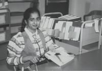 Student Worker at Memorial Library, Mankato State University March 5, 1991.