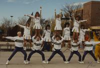 Cheerleaders at Mankato State University, 1989-10-20.