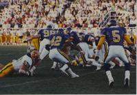 Mankato State University vs. North Dakota State University football game at Blakeslee Stadium September 15th, 1990.