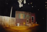 "Stage props for the play ""Gemini"" at Mankato State University, 1989-10-20."