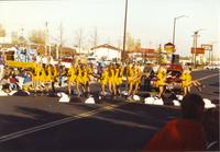 Dance Team at Homecoming Parade Near Mankato State University, 1989-10-20.