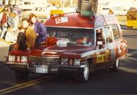 Domino's Pizza joins the Homecoming Parade at Mankato State University, 1989-10-20.