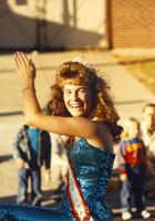 Queen Constance David at the Homecoming Parade near Mankato State University, 1989-10-20.