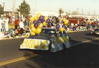 Homecoming parade near Mankato State University, 1989-10-20.