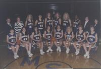 Women's Basketball team photograph at Bresnan Arena at Mankato State University, 1990-10-09.
