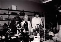 Elizabeth Philips(center), Assistant Professor of Medical Technology at Mankato State University