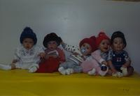 A group of babies at the Children's House, Mankato State University, December 13, 1989.