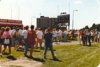 Fans at the Vikings Passing Scrimmage at Mankato State University, 1990-08-05.