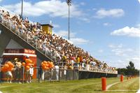 Fans at the Vikings Scrimmage at Mankato State University, 1990-08-05.