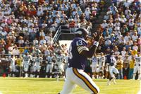 Vikings Passing Scrimmage at Mankato State University, 1990-08-05.