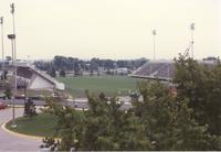 View of Blakeslee Stadium Mankato State University September 21, 1989.