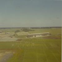 Viking's training on field, photo taken from the roof of Gage Tower, summer 1970.