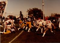 Mankato State University football team playing South Dakota