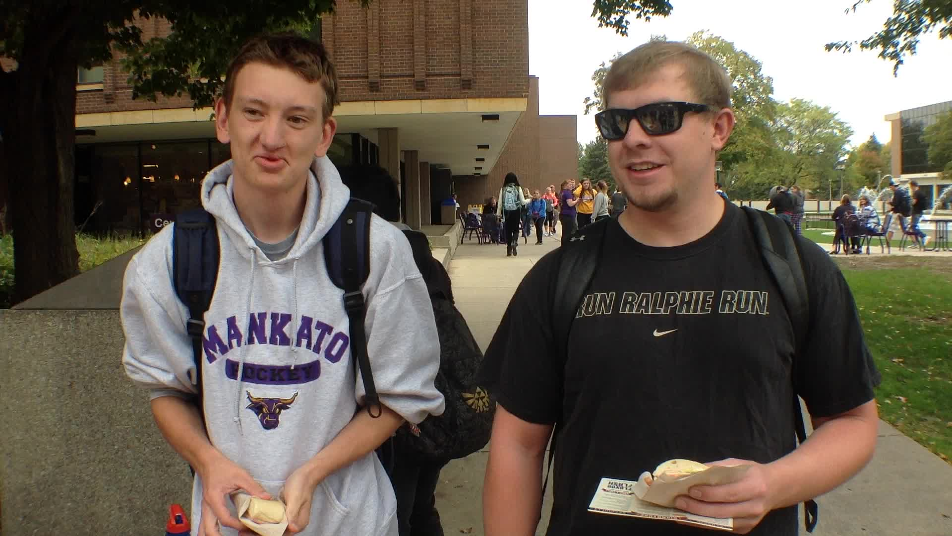 Bayien Rifleman, Mankato, MN and Mark Krinke, Mankato, MN - Homecoming 2015 at Minnesota State University, Mankato.