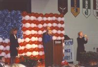 Hillary Clinton giving a speech at Otto Recreation Center at Mankato State University October 30, 1992.