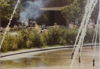 Students enjoys their day on the Campus Mall at Mankato State University, 1991-05.