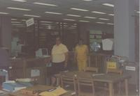 Mankato State University, Memorial Library Photographs, in 1990.