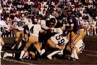 MSU football team vs. Northern Colorado, Mankato State University.