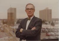 Acting President Dr. John B. Davis at Mankato State University, 1992.