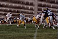 MSU inter-squad football game, Mankato State University.