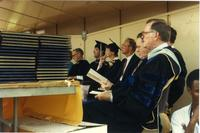 Faculty at Mankato State University Commencement, 1980s