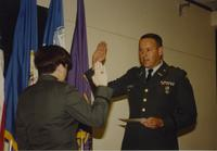 ROTC commissioning ceremony at Mankato State University, June 7, 1991.