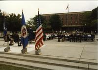 ROTC Officers at ROTC Ceremony and guests; Mankato State University