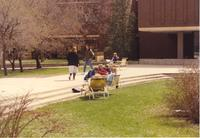 Student Life on campus at Mankato State University, 1991-04-16.
