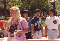 Student Interaction on Mankato State University Campus, 1991-05-15.