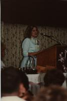 Mary Peterson, Asst. Professor of Nursing at the School of Nursing Pinning Ceremony, Holiday Inn, Mankato, 1990-92.
