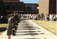 ROTC officers lined up at ROTC event; Mankato State University