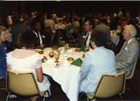 Dr. Michael Fagin at Mankato State University Distinguished Alumni Awards Reception, June 6, 1986