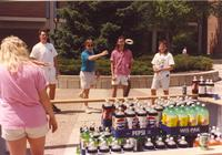 Students ring tossing on Campus Mall at Mankato State University, 1991-05-15.