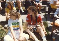 Students at Mankato State University gather and enjoy activities that are occurring on campus, 1991.