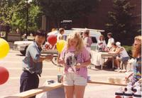 Student fundraiser on the Campus Mall at Mankato State University, 1991-05-15.