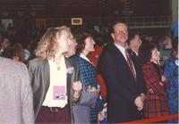 Crowd listening to Hillary Clinton giving her speech Mankato State University October 30, 1992.
