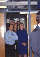 Hillary Clinton walking out onto stage Mankato State University October 30, 1992.