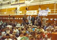 The audience waiting for Hillary Clinton to walk out Mankato State University October 30, 1992.