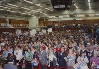 Clinton-Gore campaign in Otto Arena at Mankato State University, 1992-10.