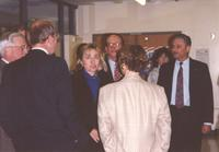 College President Richard Rush and Hillary Clinton at Mankato State University, 1992-10.